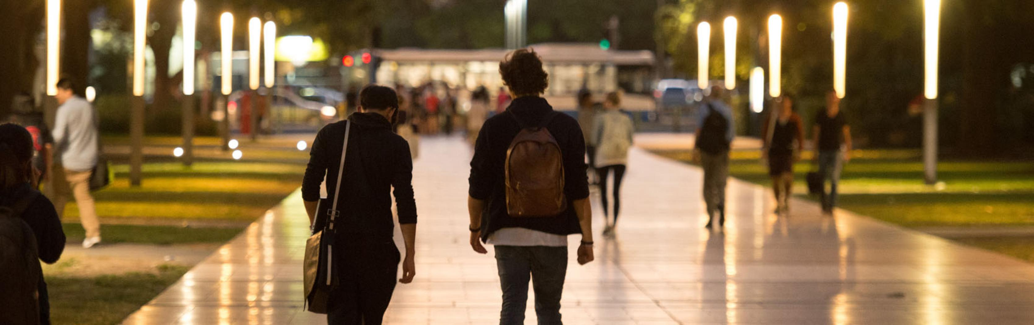 Students walking down UNSW walkway